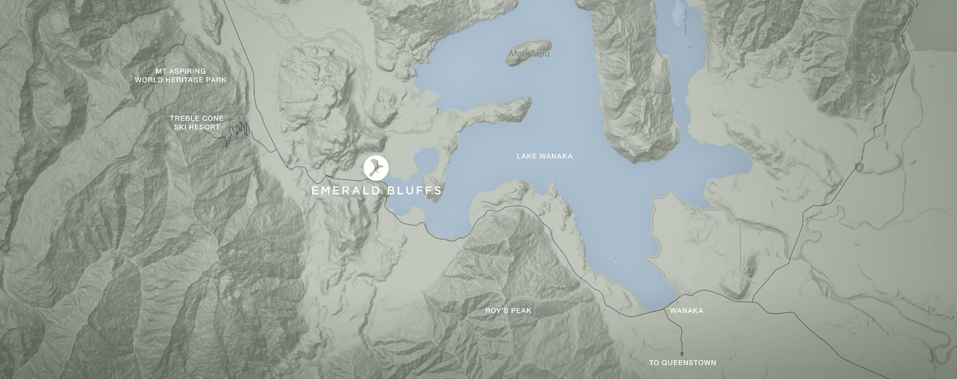 Emerald Bluffs location map